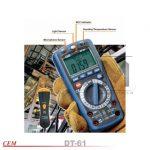 dt-61 مولتی متر 6در1 با قابلیت اندازه گیری محیط