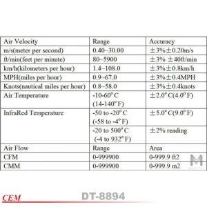 dt-8894 anemometer spec